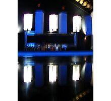 Black and Blue Bar Photographic Print