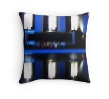 Black and Blue Bar Throw Pillow