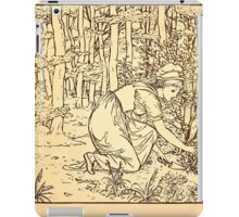 Walter Crane's Painting Book 1889 48 - On The Path Lines iPad Case/Skin