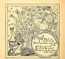 Walter Crane's Painting Book 1889 20 - The Peacock's Complaint Lines by wetdryvac