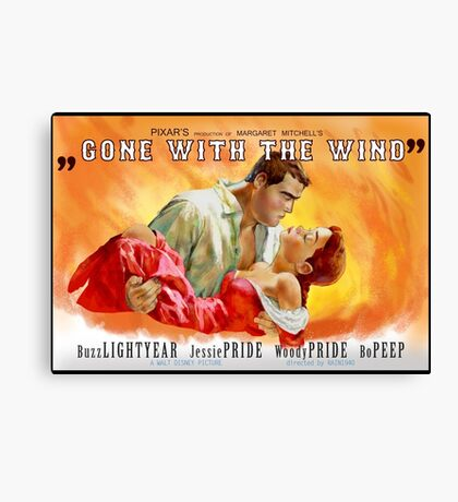 Gone withe the Wind Canvas Print