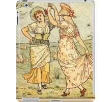 Walter Crane's Painting Book 1889 8 - Dance Color iPad Case/Skin