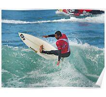 Jihad Khodr in 2009 Rip Curl Pro at Bells Beach Poster