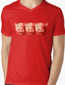 Three little pigs Mens V-Neck T-Shirt