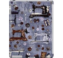 Vintage Sewing Machines Seamstress Pattern iPad Case/Skin