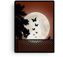 Flutter by moon sihouette Canvas Print