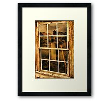 A Window to the Past Framed Print