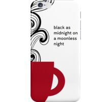 Twin Peaks - Coffe - Black as Midnight iPhone Case/Skin