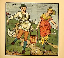 Walter Crane's Painting Book 1889 33 - Jack and Jill Color by wetdryvac