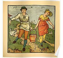Walter Crane's Painting Book 1889 33 - Jack and Jill Color Poster