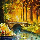 Morning Bridge — Buy Now Link - www.etsy.com/listing/221223358 by Leonid  Afremov