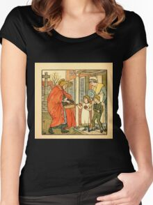 Walter Crane's Painting Book 1889 28 - Hot Cross Buns Color Women's Fitted Scoop T-Shirt