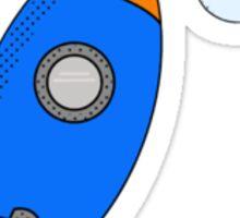 Cartoon Rocket Sticker