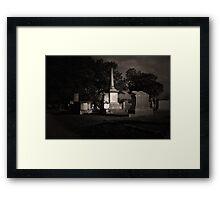 TCM - Bagdad Cemetery Framed Print