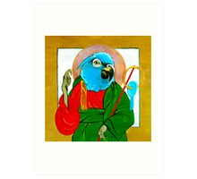 Saint Psittacine  Art Print