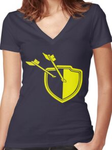 Clash of Clans Minimalist Shield Logo Women's Fitted V-Neck T-Shirt