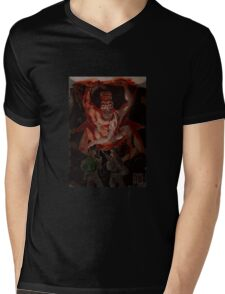 Temples of Babylon Mens V-Neck T-Shirt