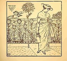 Walter Crane's Painting Book 1889 45 - How Does My Lady's Garden Grow Lines by wetdryvac