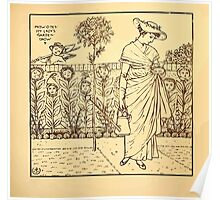 Walter Crane's Painting Book 1889 45 - How Does My Lady's Garden Grow Lines Poster