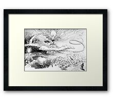 end of days sketch Framed Print