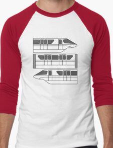 Color Changing Monorail Men's Baseball ¾ T-Shirt