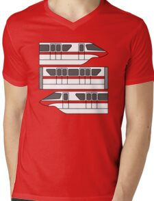 Color Changing Monorail Mens V-Neck T-Shirt