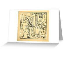 Walter Crane's Painting Book 1889 29 - Hot Cross Buns Lines Greeting Card