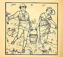 Walter Crane's Painting Book 1889 32 - Jack and Jill Lines by wetdryvac