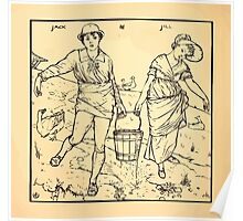 Walter Crane's Painting Book 1889 32 - Jack and Jill Lines Poster