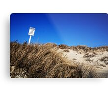 Beach Rules Metal Print
