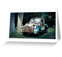 Patriotic Classic Chevy Truck  Greeting Card