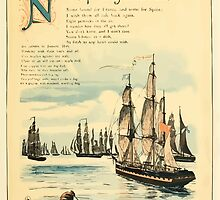 The Buckle My Shoe Picture Book by Walter Crane 1910 53 - Nine Ships Sailing on te Main by wetdryvac
