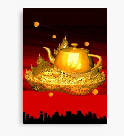 Teapot city Canvas Print