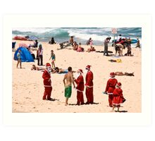 Don't mess with Santa (all of them) Art Print
