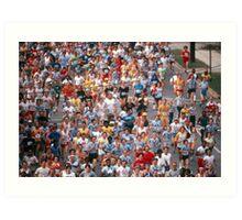 Atlanta Marathon runners Art Print