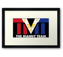 The Manny Team Filipino Flag TMT by AiReal Apparel Framed Print