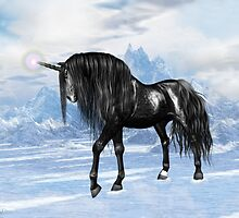 Black Unicorn by LoneAngel