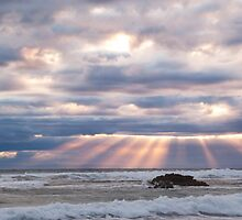 Light rays - Sorrento - Mornington Peninsula by Monica Cooke