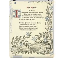 The Old Garden and Other Verses by Margaret Deland and Wade Campbell, Illustrated by Walter Crane 1894 53 - The Myrtle iPad Case/Skin