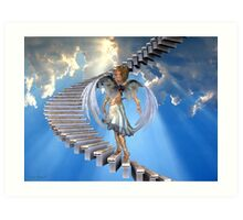 Angels .. Stairway to heaven Art Print