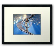 Angels .. Stairway to heaven Framed Print
