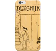Cinderella Picture Book containing Cinderella, Puss in Boots, and Valentine and Orson Illustrated by Walter Crane 1911 60 - Closing Alphabet Plate iPhone Case/Skin