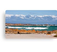British Admiral Beach, King Island Canvas Print