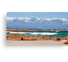 British Admiral Beach, King Island Canvas Print