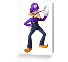 Waluigi Greeting Card
