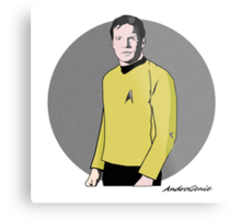 Captain Kirk Metal Print