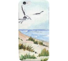The Seagull and the beach iPhone Case/Skin
