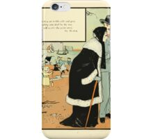 The Buckle My Shoe Picture Book by Walter Crane 1910 74 - When Thou Art Feeble Old and Gray iPhone Case/Skin