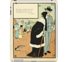 The Buckle My Shoe Picture Book by Walter Crane 1910 74 - When Thou Art Feeble Old and Gray iPad Case/Skin