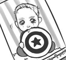 Teeny Tiny Captain America by inkyonion